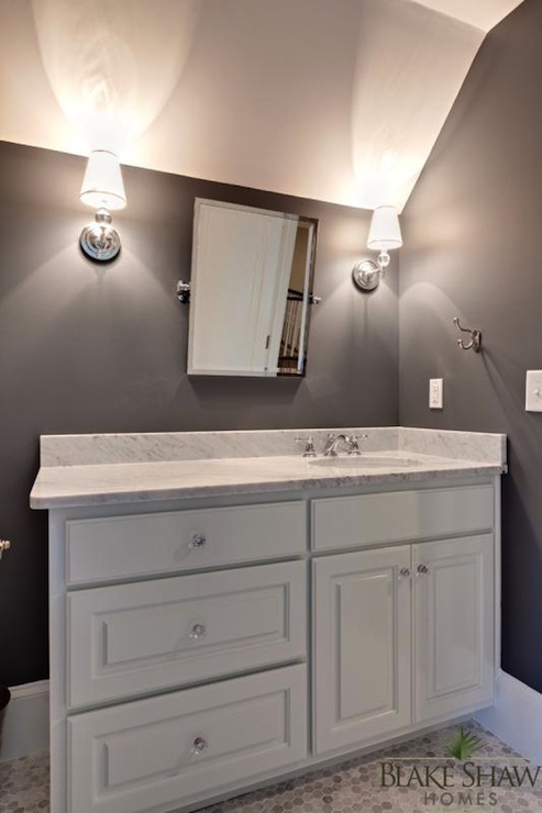 dark gray bathroom walls design ideas, Home decor