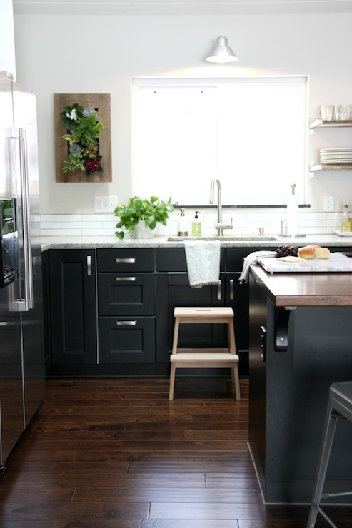 Ikea Kitchen Cabinets Black ikea kitchen island - contemporary - kitchen - house tweaking