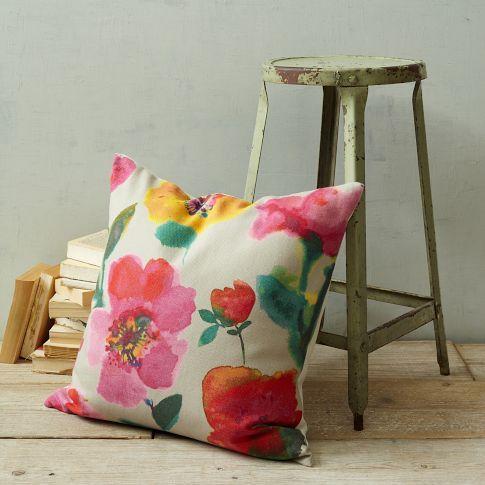 cancun floral pillow cover west elm. Black Bedroom Furniture Sets. Home Design Ideas
