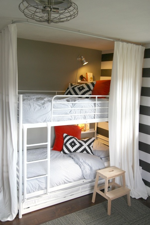 Ikea Bunk Beds - Contemporary - boy\'s room - Sherwin Williams ...