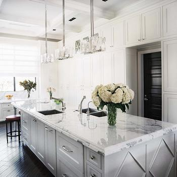 White Kitchen Cabinets With Dark Wood Floors Cottage