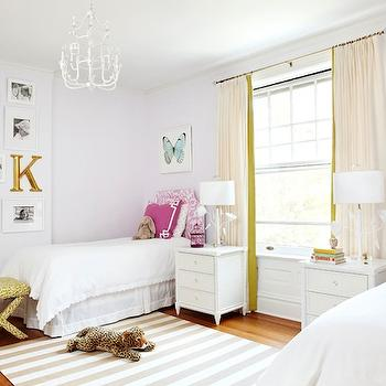 White and Pink Headboard, Contemporary, girl's room, Amie Corley Interiors