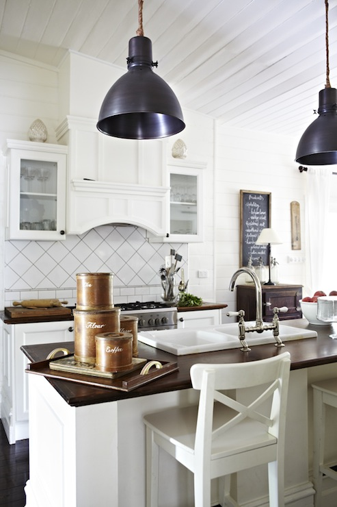 industrial bar stools cottage kitchen in the fun lane. Black Bedroom Furniture Sets. Home Design Ideas
