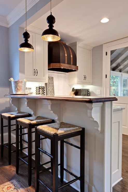 seagrass bar stools  transitional  kitchen  blake shaw