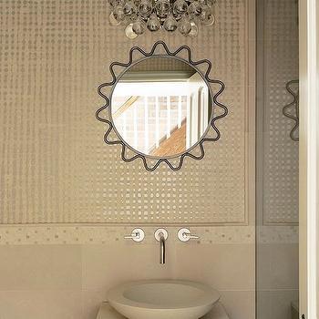 Bling Chandelier, Contemporary, bathroom, Christine Markatos Design