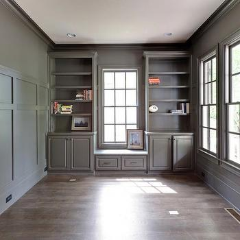 Wood Paneled Office, Traditional, den/library/office, Blake Shaw Homes