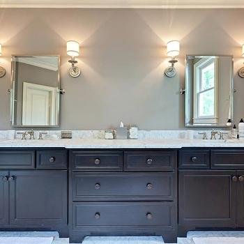 Black Double Vanity, Contemporary, bathroom, Blake Shaw Homes