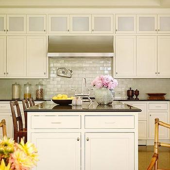 Iridescent Backsplash, Cottage, kitchen, Christine Markatos Design
