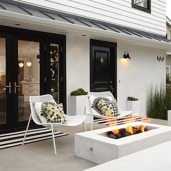 Outdoor Fire Pit, Contemporary, porch, K Mathiesen Brown Design