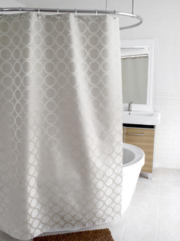Pirouette Fabric Shower Curtain