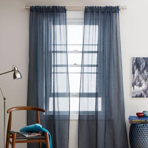 Window Treatments Blue Drapes