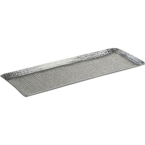 luau 825 x 235 party platter i crate and barrel aluminum crate barrel