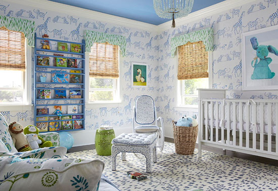 Boys nursery wallpaper
