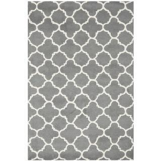 Handmade Moroccan Dark Grey Wool Rug 4 X 6 Com