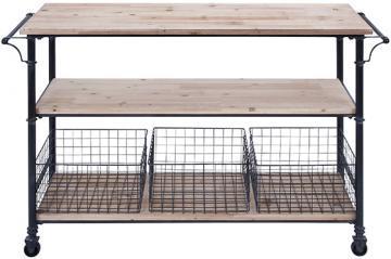 Hopper Storage Cart HomeDecoratorscom - Metal table with shelves