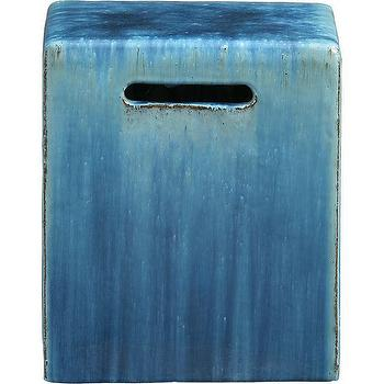 Carilo Blue Garden Stool, Crate and Barrel