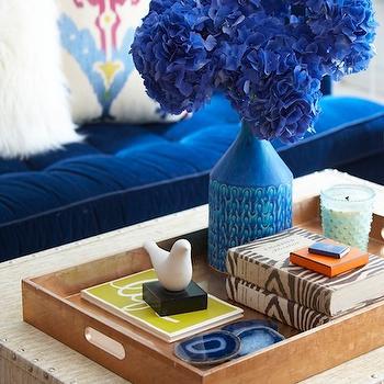 Indigo Blue Sofa, Contemporary, living room, Erin Gates Design