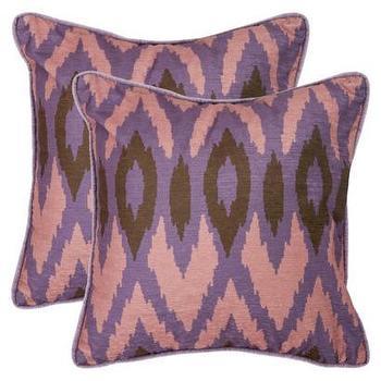 2-Pack Woven Ikat Toss Pillows, Lavender I Target