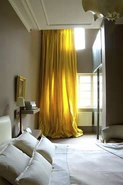 Yellow Curtains Transitional Bedroom Rose Uniacke