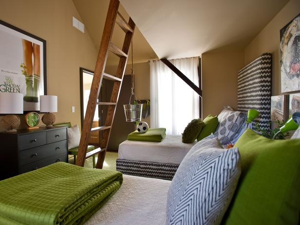 Brown And Green Boys Room Contemporary Boy S Room