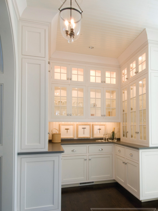 Glass Front Kitchen Cabinets Traditional