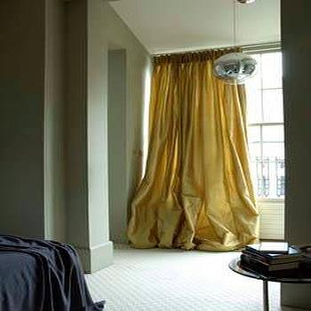Yellow Drapes, Transitional, bedroom, Rose Uniacke
