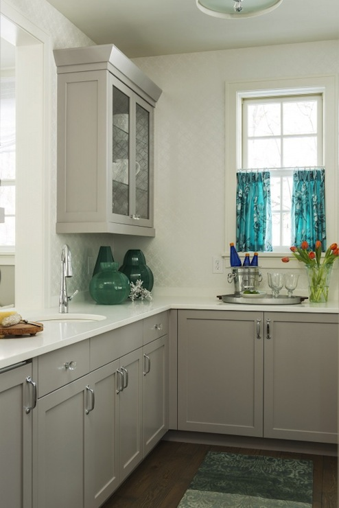 Gray Kitchen Cabinet Colors Contemporary Kitchen