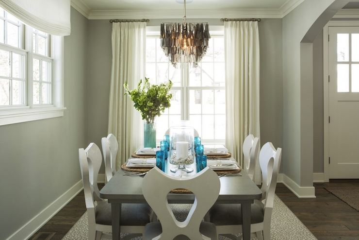 Stonington gray contemporary dining room benjamin for Stonington gray benjamin moore