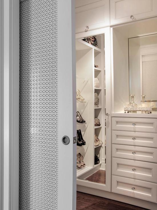 Closet Pocket Door Transitional Closet