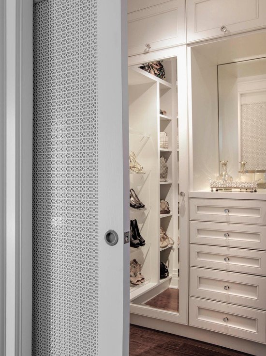 Closet With Pocket Doors Design Ideas