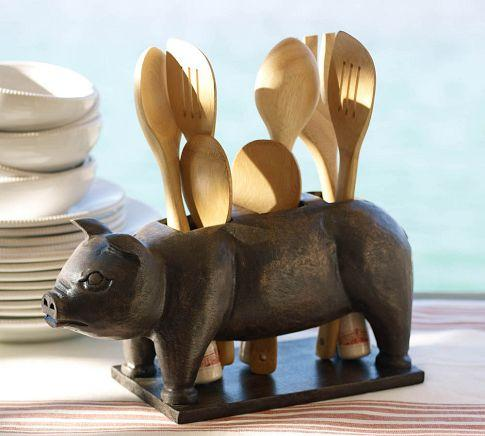 Pig Flatware Caddy Pottery Barn