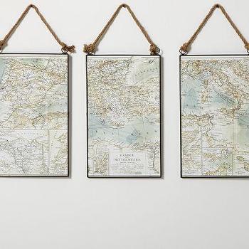 Map Triptych, Pottery Barn