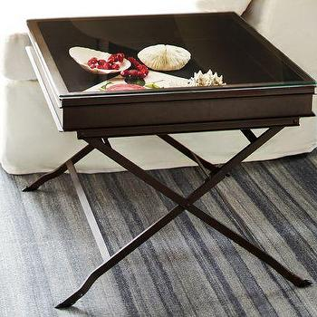 Carter Metal Display Side Table   Pottery Barn Idea