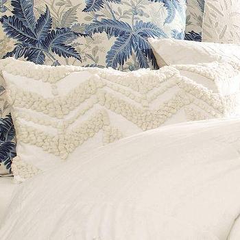 Candlewick Zig Zag Lumbar Pillow Cover, Pottery Barn