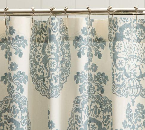 Lucianna Medallion Shower Curtain Pottery Barn