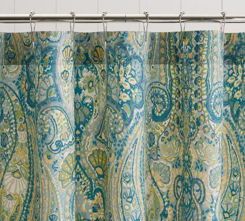 Curtains Ideas blue paisley shower curtain : Indigo Paisley Shower Curtain