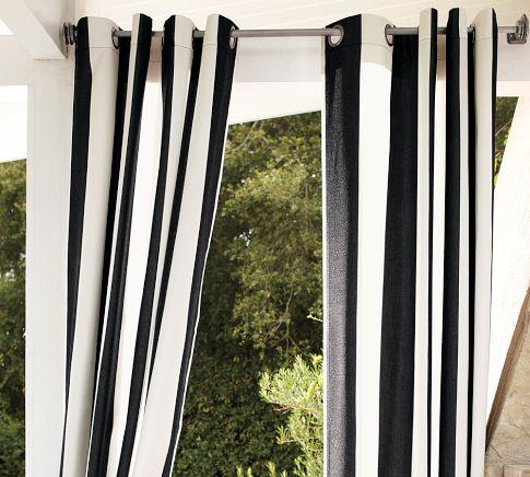 White Curtains black and white curtains target : Stripe Black and White Faux Silk Taffeta Curtain Panel