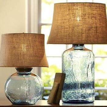 Clift Glass Table Lamp Base Eggplant Pottery Barn