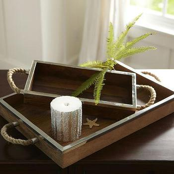 Hyannis Rope Candle Trays, Pottery Barn