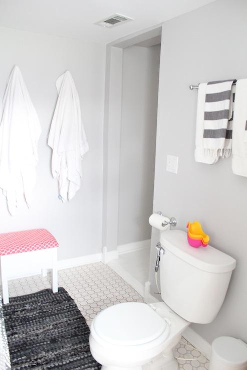 Gray Walls Contemporary Bathroom Behr Dolphin Fin