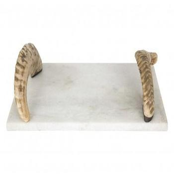 White Marbled Cheese Board Set