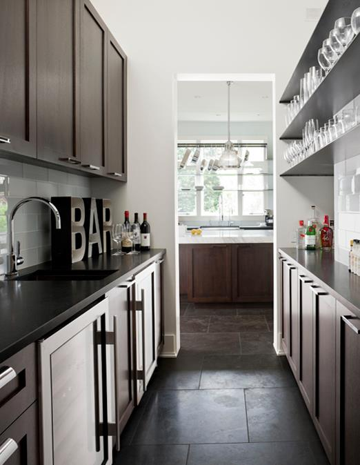 galley butlers pantry contemporary kitchen nb