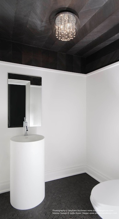 Herringbone Ceiling Contemporary Bathroom Stephani