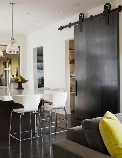 Sliding Barn Door Contemporary Kitchen Nb Design Group