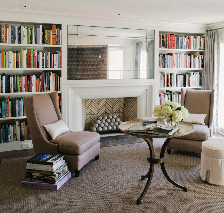 Built In Bookshelves: Fireplace Built In Bookcase Design Ideas