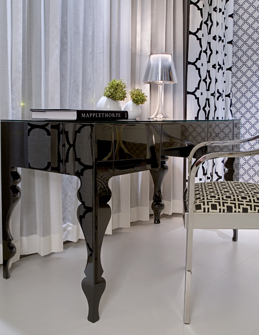Fabulous Black Lacquer Desk Contemporary Bedroom Nb Design Group Onthecornerstone Fun Painted Chair Ideas Images Onthecornerstoneorg