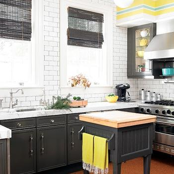 yellow tile kitchen charcoal gray subway tile contemporary kitchen 1223