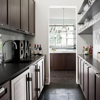 Galley Butler's Pantry, Contemporary, kitchen, NB Design Group