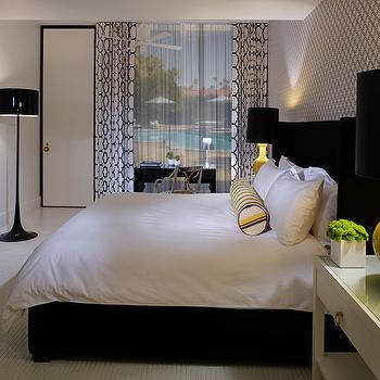 Yellow and Black Bedroom, Contemporary, bedroom, NB Design Group