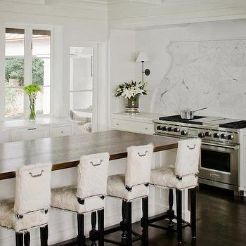 Sheepskin Bar Stools, Transitional, kitchen, Ruard Veltman Architecture